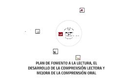 PLAN DE FOMENTO A LA LECTURA, EL DESARROLLO DE LA COMPRENSIÓ