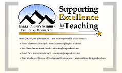 Supporting Teacher Excellence