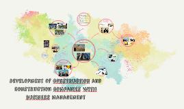 Development of constructıon and construction companıes