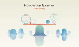 Introduction Speeches