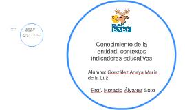 Conocimiento de la entidad, contextos  indicadores educativo