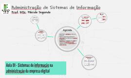 Administração de Sistemas de Informação - Aula 02