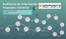 Auditorias de Información Financiera histórica
