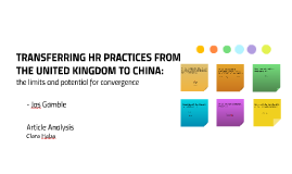 Transferring HR practices from the UK to China