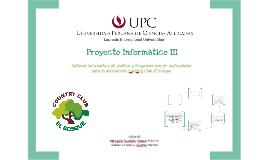 Proyecto Informático III - Segundo Entregable
