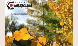Resume Creation