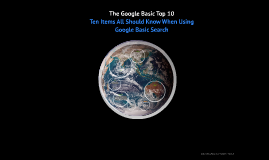 The Google Basic Top Ten