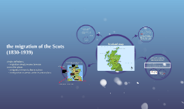 the migration of the Scots (1830-1939)