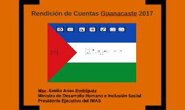 Rendición de Cuentas Guanacaste 2017