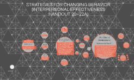 STRATEGIES FOR CHANGING BEHAVIOR (INTERPERSONAL EFFECTIVENES
