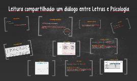 Leitura compartilhada: um diálogo entre Letras e Psicologia