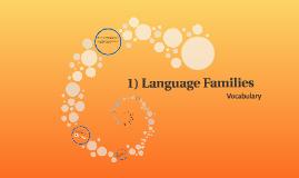 1) Language Families