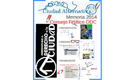 Memoria 2014 del ODC