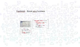 Copy of Facebook - Boost your business
