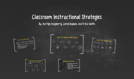 Copy of Classroom Instructional Strategies