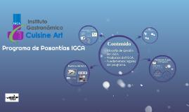 Programa de Pasantías IGCA