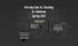 Introduction to Teaching - Classes 5 and 6