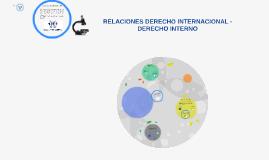 DERECHO INTERNACIONAL - DERECHO INTERNO