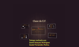 Clase de E.F.