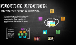 Function Junction!