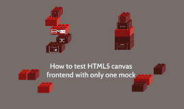 How to test HTML5 canvas frontend with only one mock