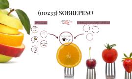 CASO PRÁCTICO3: (00233) SOBREPESO