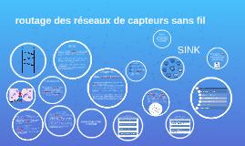 Copy of Copy of routage des réseaux de capteurs sans fil