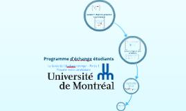 Programme d'échange étudiants à l'Université de Montréal