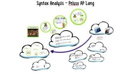 Syntax Analysis - Peluso AP Lang