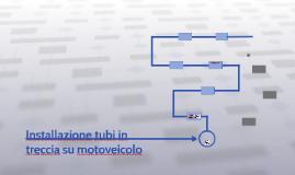 Installazione tubi in treccia su motoveicolo