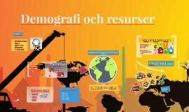 Copy of Demografi och naturresurser