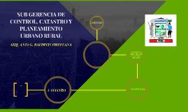 SUB GERENCIA DE CONTROL, CATASTRO Y PLANEAMIENTO URBANO RURA