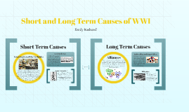 Short and Long Term Causes of WWI