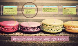 Literature and Whole Language 1 and 2