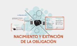 NACIMIENTO Y EXTINCIÓN DE LA OBLIGACIÓN