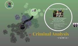 Criminal Analysis