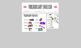 VOCABULARY ENGLISH