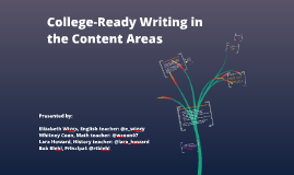 Copy of College-Ready Writing in the Content Areas