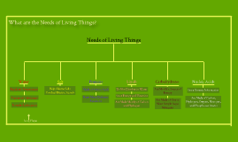 Needs of Living Things Thinking Map-Mrs. Oliver L-5