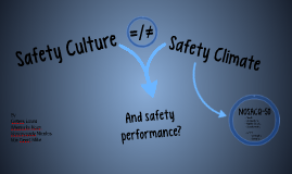Copy of Safety Culture