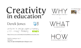 Copy of Creativity in Education (Introduction)