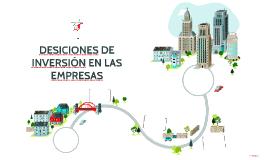 DESICIONES DE INVERSIÓN EN LAS EMPRESAS