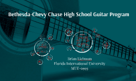 Copy of Bethesda-Chevy Chase High School Guitar Program