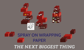 SPRAY ON WRAPPING PAPER