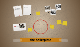 the boilerplate