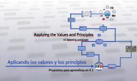 Español 01. Aplicando los valores y los principios