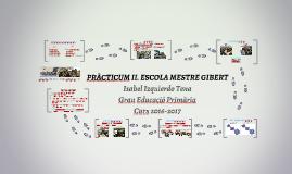 PRÀCTICUM II. ESCOLA MESTRE GIBERT