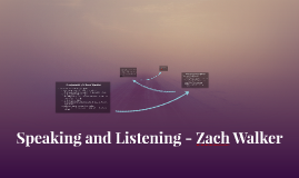 Speaking and Listening - Zach Walker