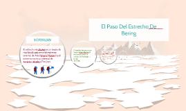 el paso del estrecho de Bering