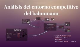 Análisis del entorno competitivo del balonmano
